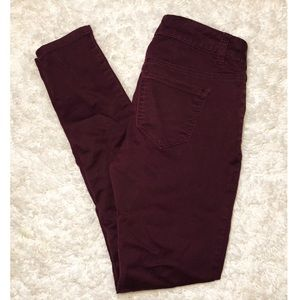 Pants - Burgundy Skinny Pants